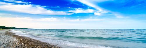 panorama lake beach water clouds nikon shoreline wideangle lakemichigan tamron lakefront kenosha kenoshacounty alfordpark