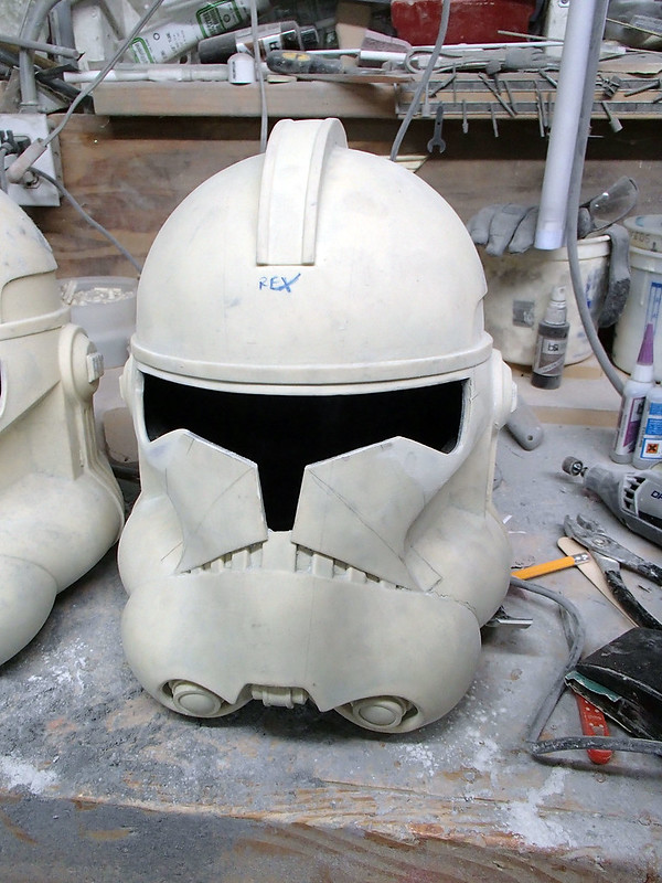 Captain Rex Helmet Visor Re-Cut