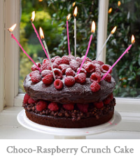 Chocolate Ganache Raspberry Crunch Cake