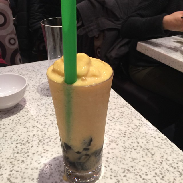 Mango Shake with Grass Jelly - Cattle Cafe