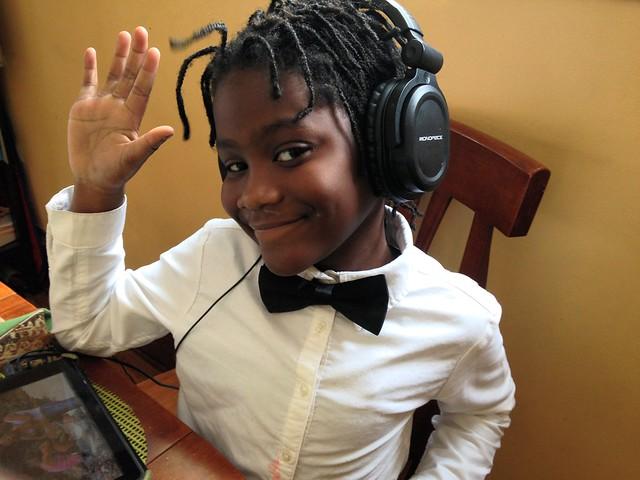 Black Girl Bow Tie Headphones 2-6-15