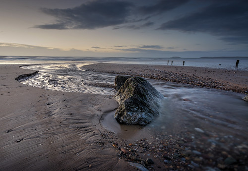 wood ireland beach water clouds sunrise sand stones cork groynes youghal hdrphotomatrix