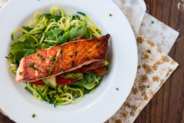 Salmon & Avocado BLT Bowl