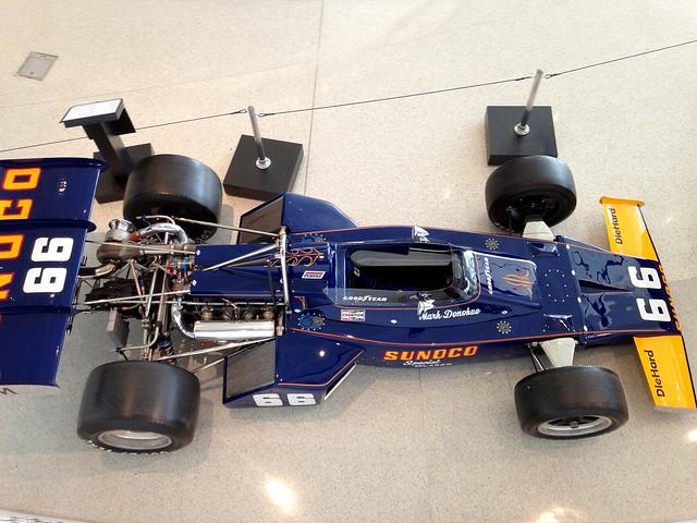 NASCAR Hall Of Fame 50 Years Of Penske Racing Display