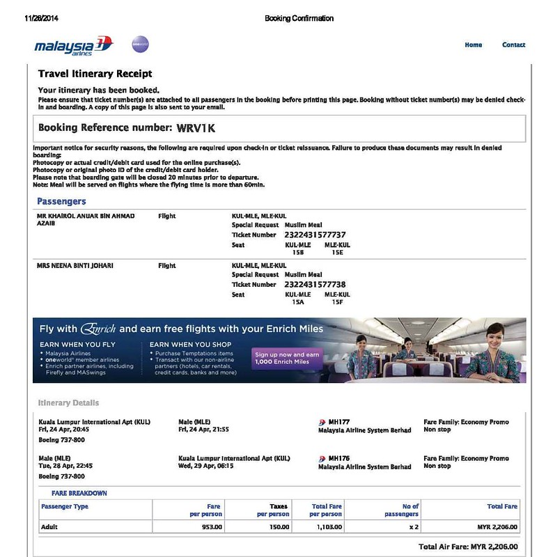 1-Booking Confirmation_MALDIVES