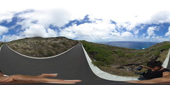 From the final leg of the Makapu'u Lighthouse trail - a 360° Equirectangular VR