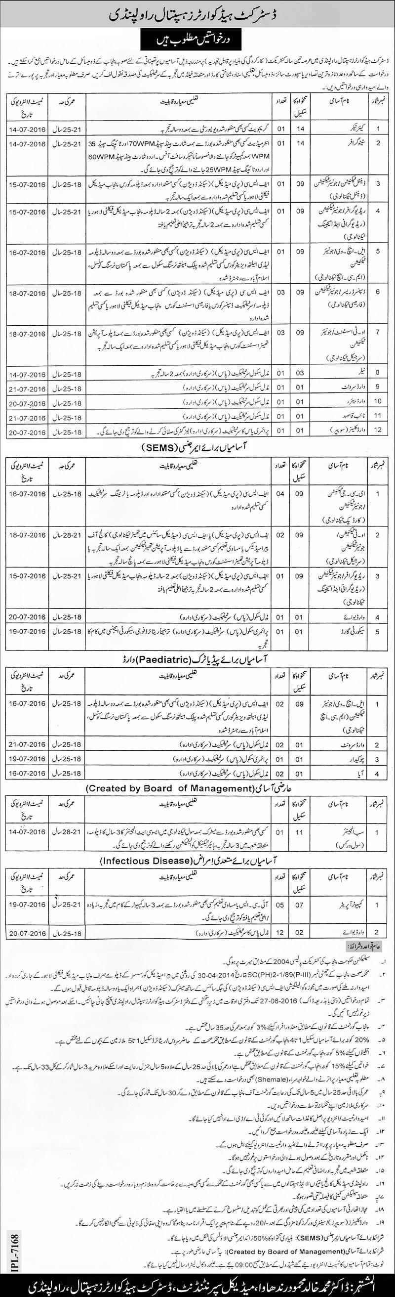 DHQ Rawalpindi Jobs