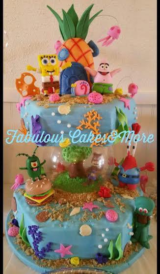 SpongeBob Themed Cake by Crystal Diaz