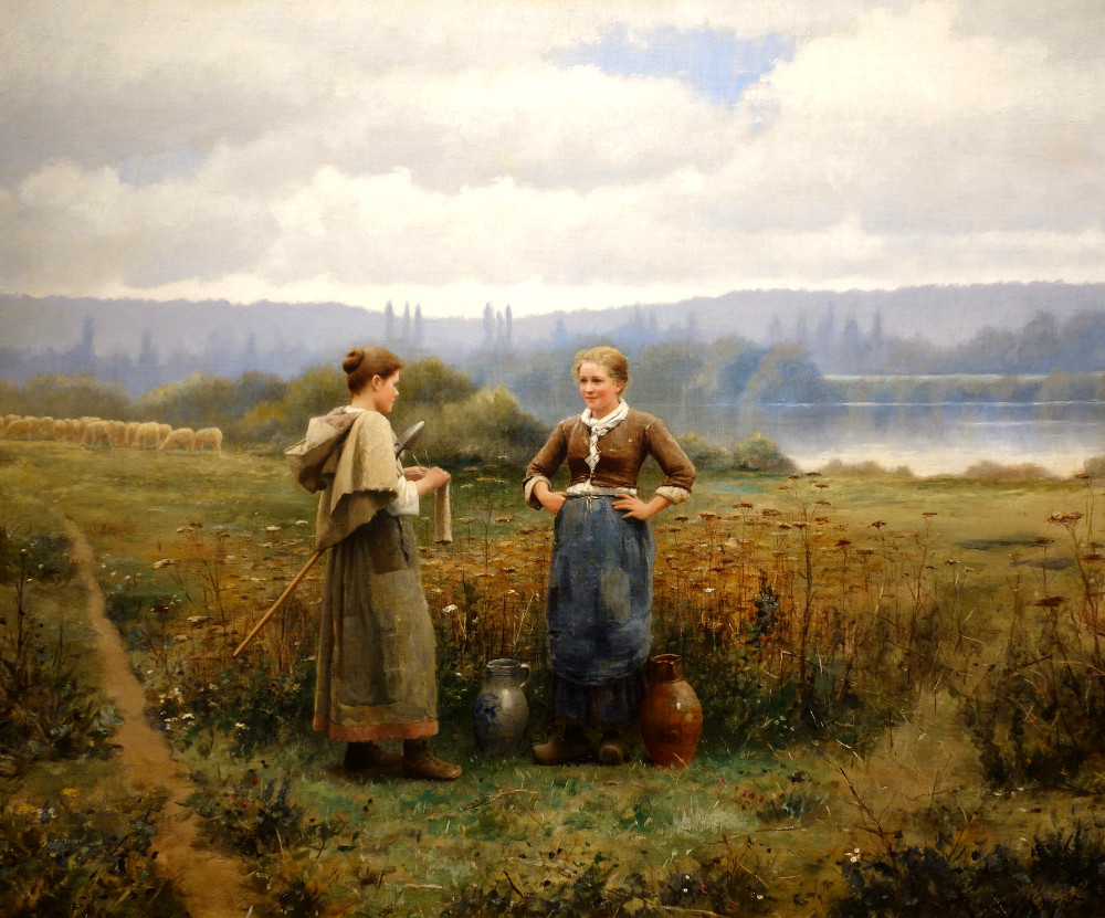 The Meeting by Daniel Ridgway Knight, c. 1888