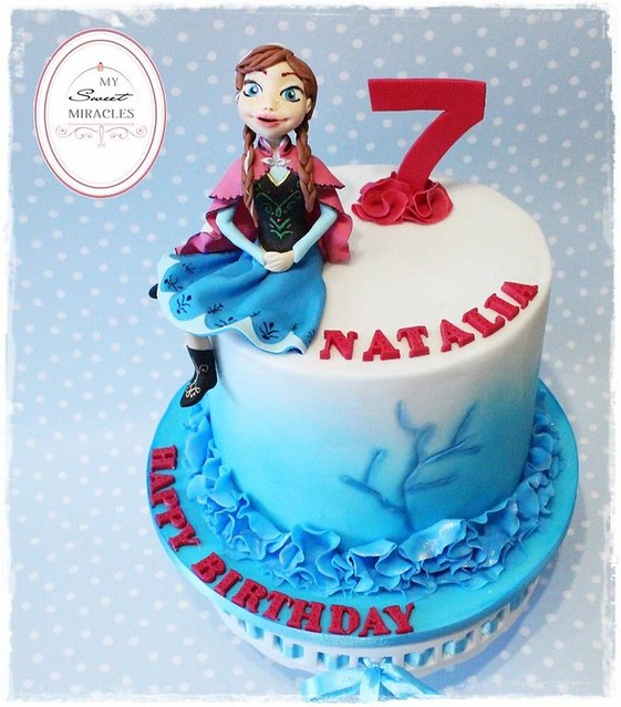 Anna Frozen Birthday Cake by My Sweet Miracles
