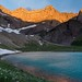 Sunrise on Mt. Siyeh and Cracker Lake, Glacier National Park by Michael Speed