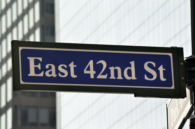East 42nd Street Sign | Flickr - Photo Sharing!