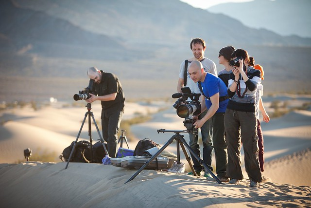 Manfrotto Be Free Tripod ad shoot BTS - Death Valley Mesquite Sand Dunes