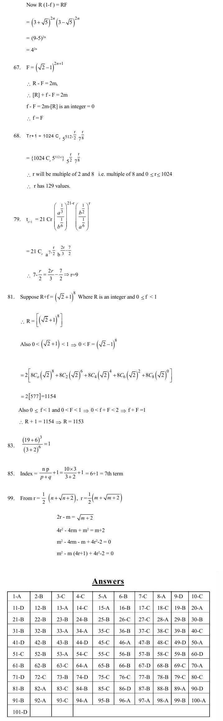 JEE Question Bank Maths - Binomial Theorem
