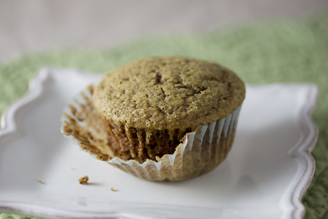 Vegan Green Tea Cupcakes showing some crumb