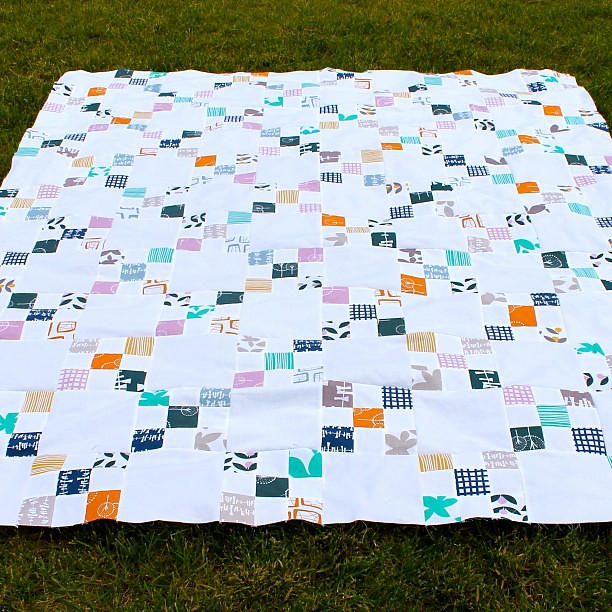 Glimma Irish Chain done! Brief tutorial on my blog. #lotta #babylock #quilting