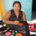 Embroidering a Huipil - Boradando un huipil en telar casero; Juchitán de Zaragoza, Región Istmo, Oaxaca, Mexico por Lon&Queta