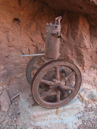 Old mine machinery near the Last Chance Mine, Grand Canyon National Park, Arizona