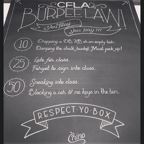It's baaaaack. Revised & redone, ready to be enforced. Art greatly done by @chinoooooooo @aptbcollective #respectyobox #burpeelaw #crossfit