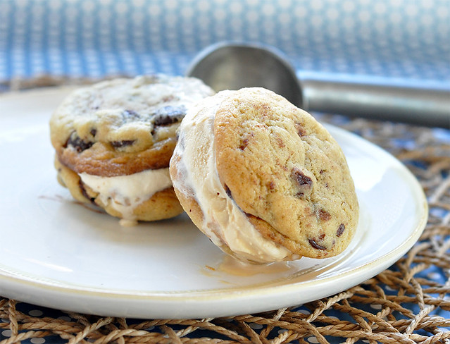 Ice Cream Sandwiches + Chocolate Chip Cookies
