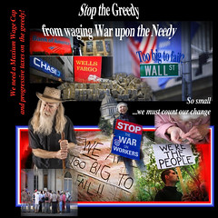 stop the Greedy from waging war on the Needy