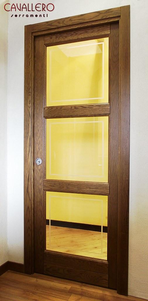 Foto porte interne in legno massiccio - Vetro per porta interna ...