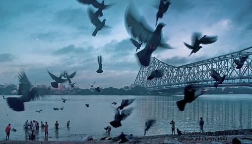 bridge kolkata howrahbridge howrah rabindrasetu morningkolkata