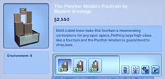 The Panther Modern Fountain by Modern Arcology