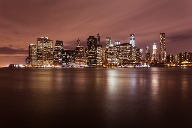 Bright lights, big city: Manhattan skyline from DUMBO *8*