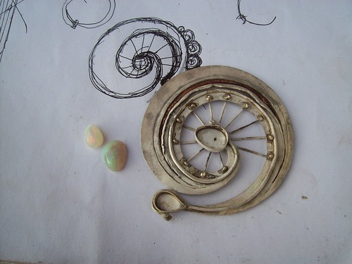 W.I.P. LIFE WHEEL BROOCH by marco_magro