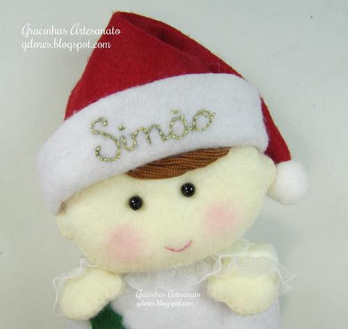 Lembrança 1º Natal do Simão