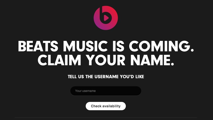 Beats Music  Claim Your Name