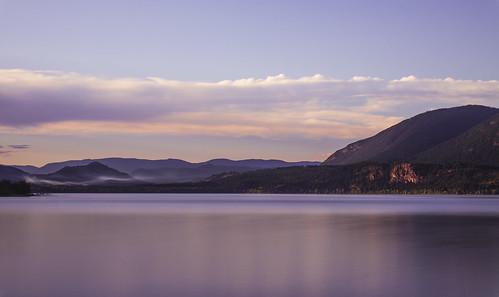 longexposure sunset lake canada landscape okanagan shuswap