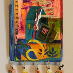 Number 8 - Arel Mishory, I'll be an expert, mixed media clock, starting bid $25