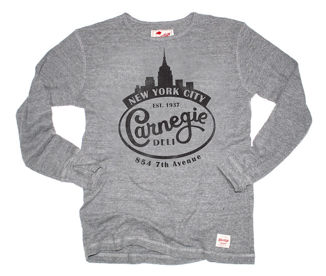 Sportiqe Carnegie Deli Long Sleeve Thermal - Gray