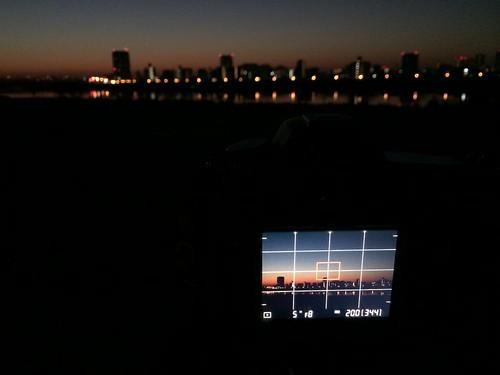 iPhone5sで撮影 初日の出 2014年1月1日