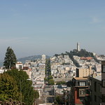 Atop Lombard St.