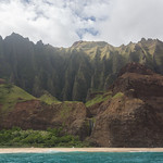 Campsite and beach, Nā Pali Coast
