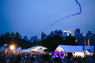NYC Skyline from the fest. 6.8.13