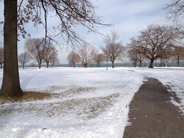 Frozen Lakewood Park