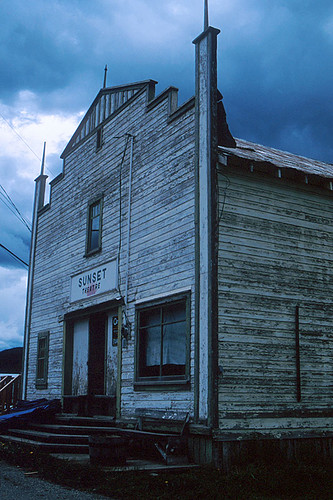 Heritage Sunset Theatre, Wells, Cariboo, British Columbia, Canada
