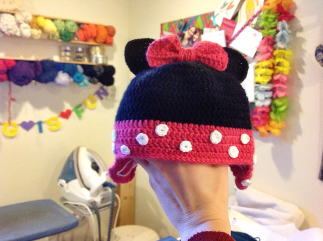 Minnie hat almost finished