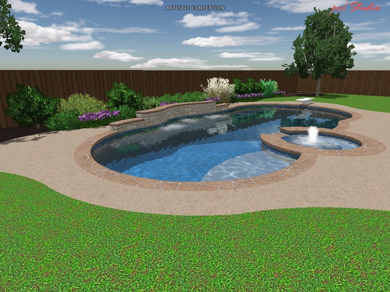 New pool build north dallas in allen east for Pool show dallas
