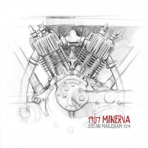 1907 Minerva V-twin by Stefan Marjoram