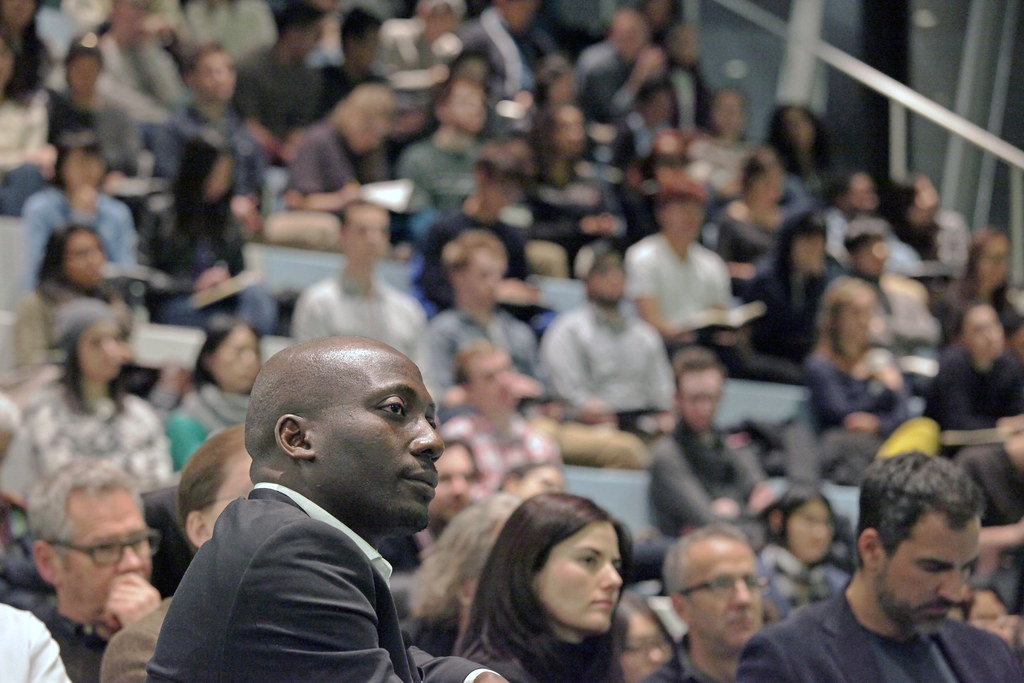 Kunle' Adeyemi during his introduction in the Abby and Howard Milstein Auditorium in Milstein Hall.