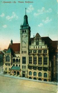 Chemnitz neues Rathaus 1911