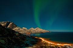 Northern Lights at full moon