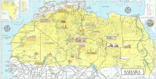 AFRSAH-4K-06 Sahara Merian 1985. 2221KAf a  AFRSAH-4K-06 2221KAf b karta 2221KAf