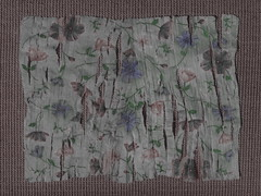 Sometimes I Take Pictures of Blossoming Flowers - Spread Out Shredded Serviette - Upcycling an Easter Serviette ~ Manchmal mache ich Blümchenfotos