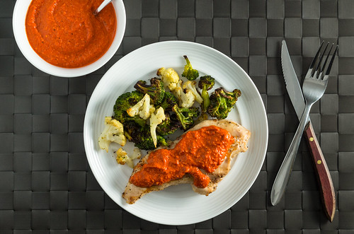 Chicken with Romesco sauce